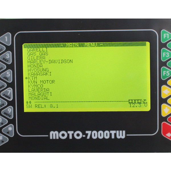 Moto 7000TW Universal Scanner Software Dispaly 2