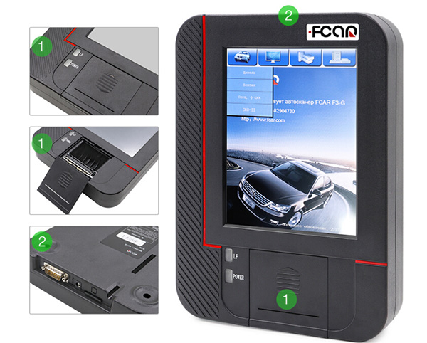 Original Fcar F3-G (F3-W + F3-D) Universal Auto Scanner For Gasoline Cars, Heavy Duty Trucks 3