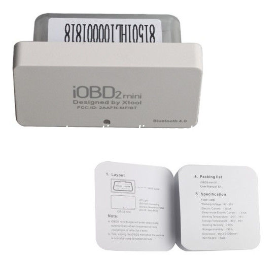 Mini iOBD2 OBDII EOBD Code Scanner Xtool Diagnostic Tool Bluetooth 4.0 for iOS and Android supplier