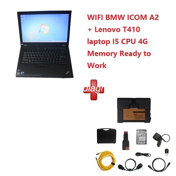 WIFI BMW ICOM A2+B+C Diagnostic and Programming Tool 2020.3V with T410 Laptop Ready To Work