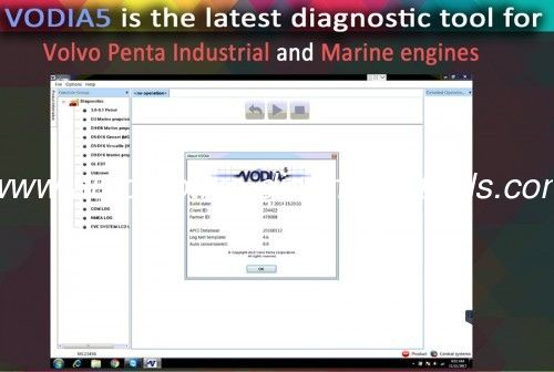 VODIA5 Auto Diagnostic Software For Volvo Penta Industrial And Marine 1 Years Warranty