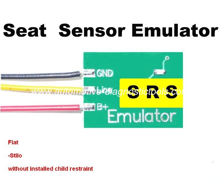 High Efficiency SRS 4 Fiat Seat Sensor Emulator for Car Repair Troubleshooting
